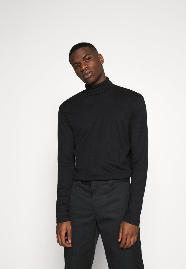 JPRBLARAY ROLL NECK - Bluzka z długim rękawem - black