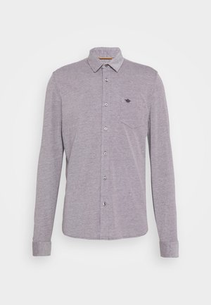 ALPHA BUTTON UP - Shirt - hofmann raisin