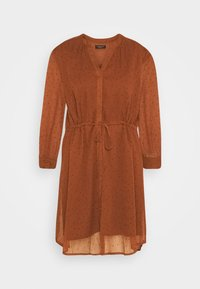 Selected Femme Petite - SLFMARIA DOT DAMINA DRESS - Shirt dress - ginger bread - 4