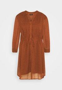 SLFMARIA DOT DAMINA DRESS - Shirt dress - ginger bread