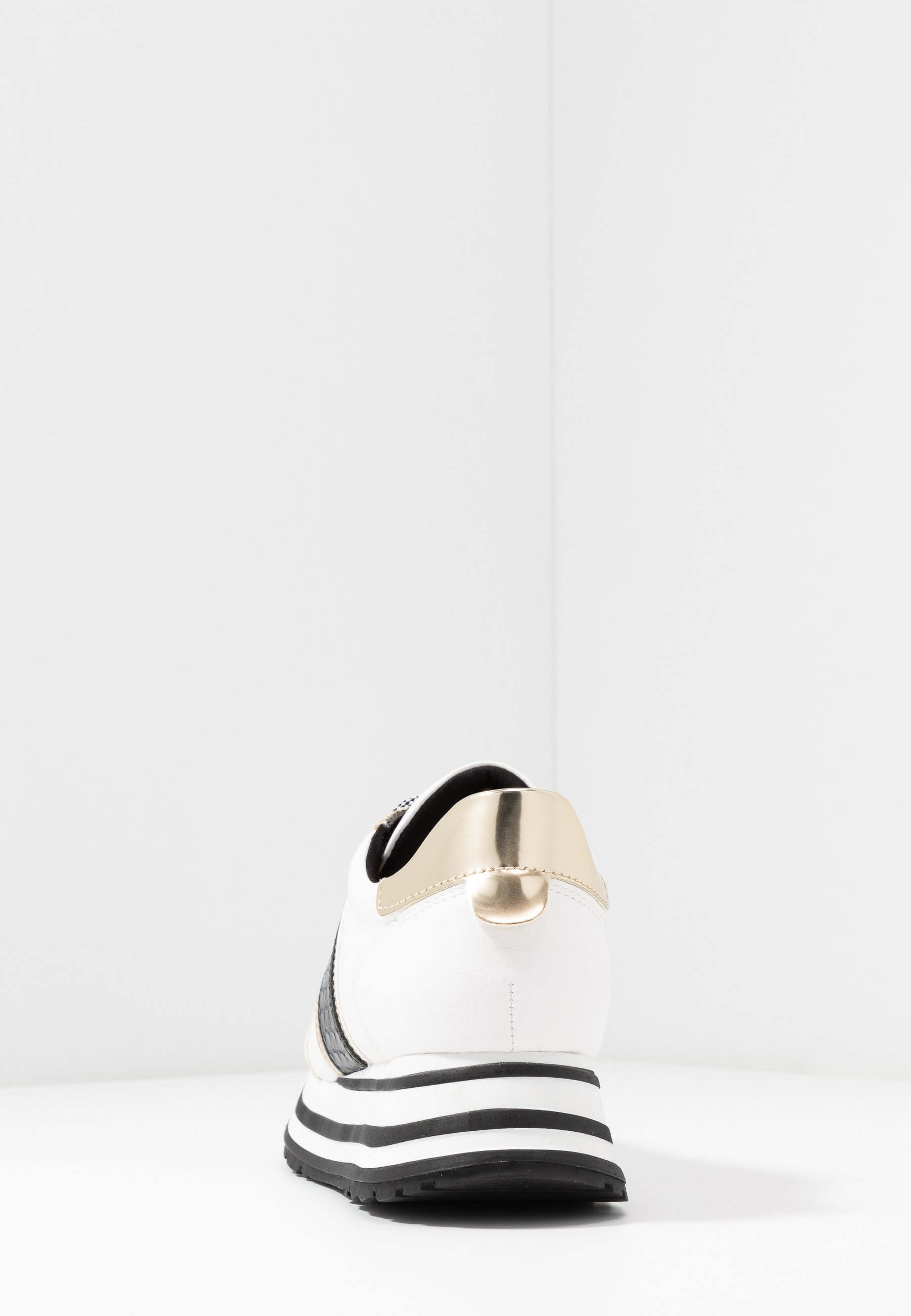 Tamaris Lace Up - Sneakersy Niskie White/black