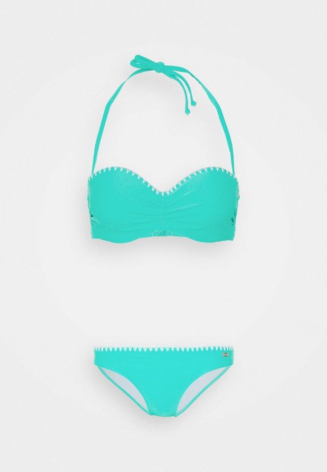 WIRE BANDEAU SET - Bikini - turquoise