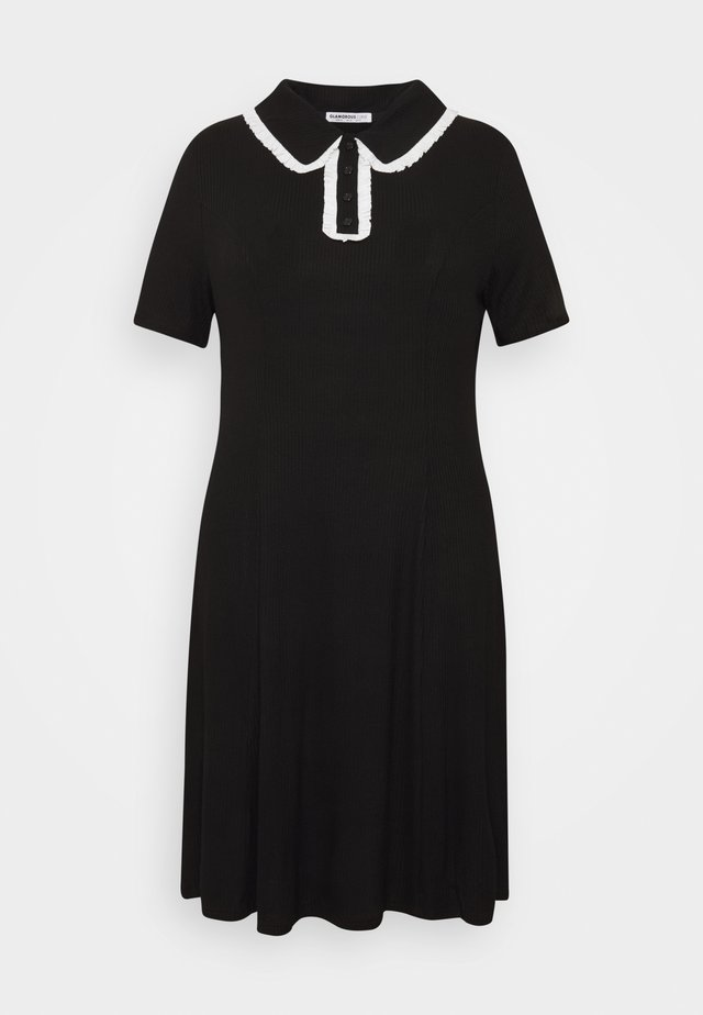 GLAMOUROUS COLLAR DRESS - Kjole - black/white