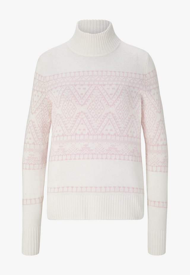 Pullover - off-white/hellrosa