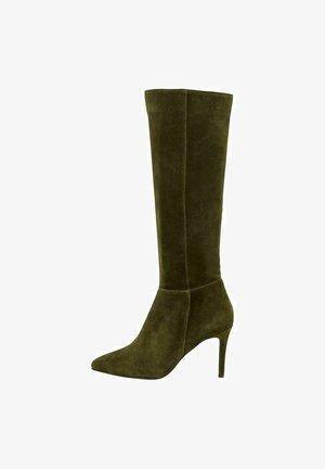 BIADANGY  - Højhælede støvler - darkgreen