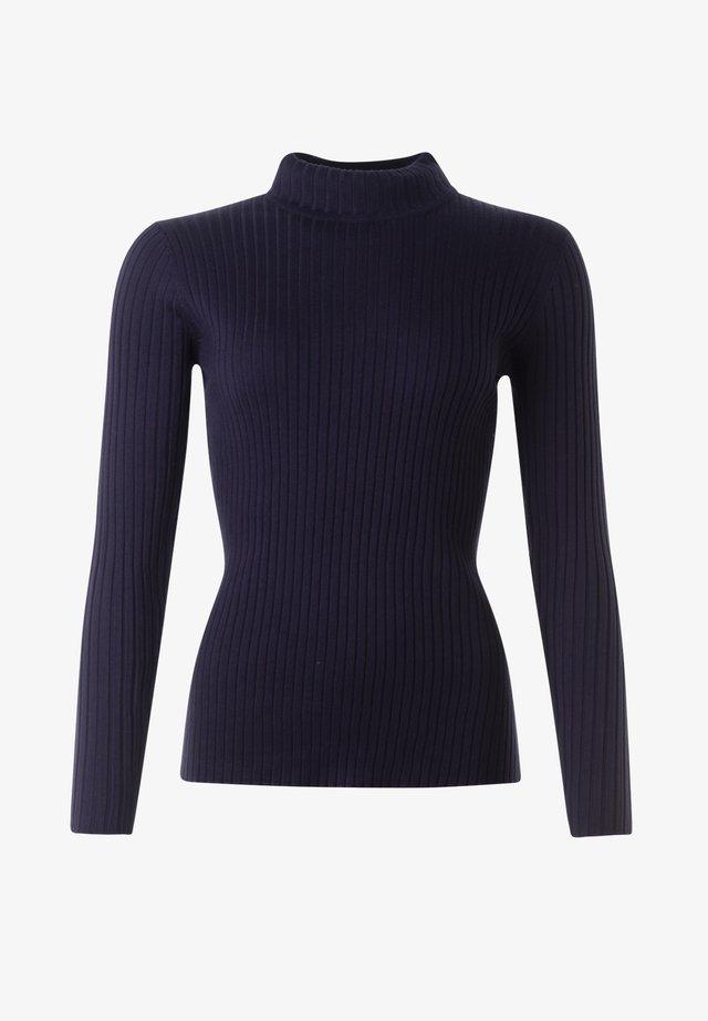 LEONORA - Stickad tröja - navy