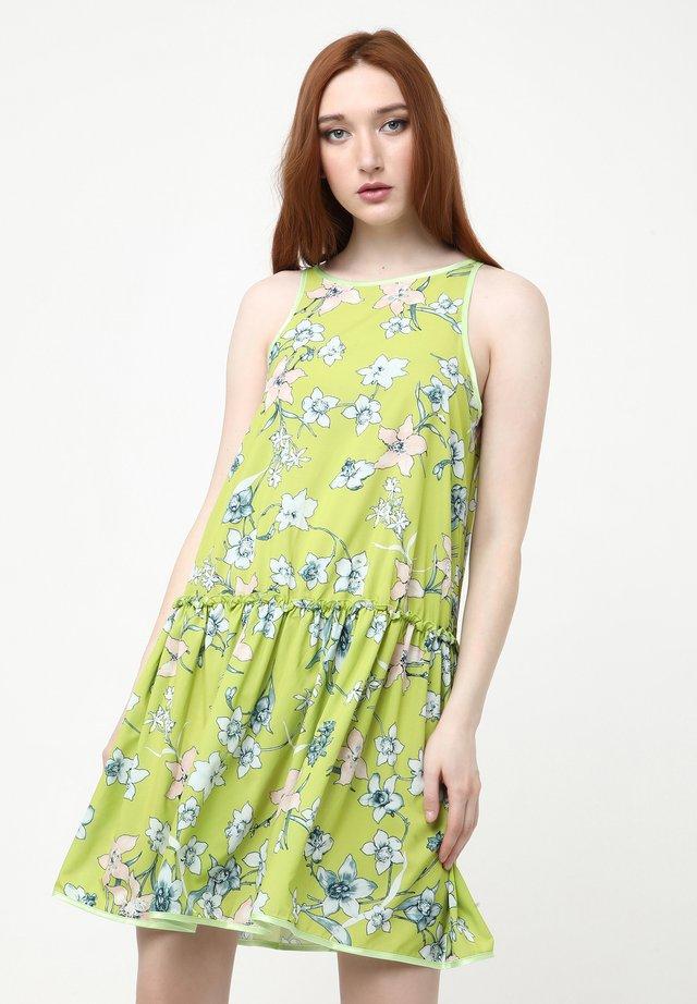 LAZUR - Robe d'été - hellgrün weiß