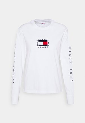 FLAG LONGSLEEVE - Long sleeved top - white