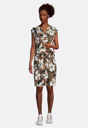 Korte jurk - schwarz/braun