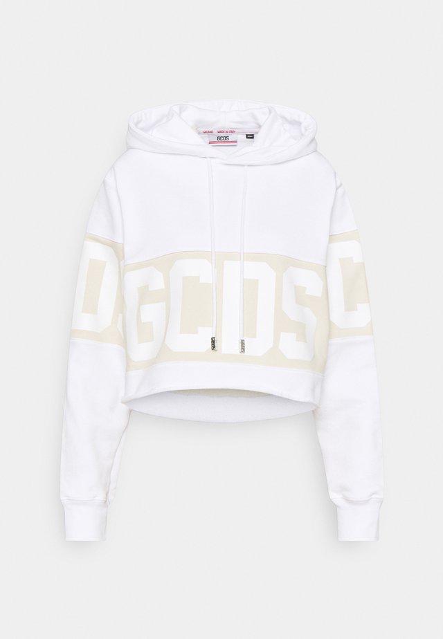 CROP HOODIE - Sweatshirt - white