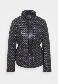 MICHAEL Michael Kors - BELTED PUFFR - Down jacket - black/white - 7