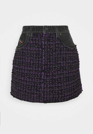 O-SAN - Minisukně - black/purple