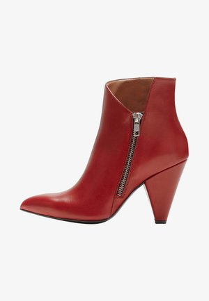 MARLENA - High heeled ankle boots - red