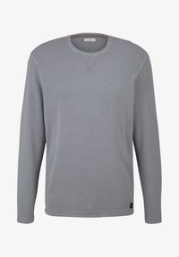 TOM TAILOR - MIT WAFFELSTRUKTUR - Long sleeved top - middle grey melange - 5