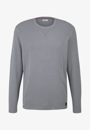 MIT WAFFELSTRUKTUR - Long sleeved top - middle grey melange