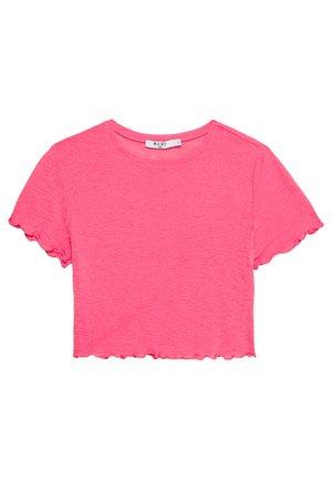 BABYLOCK CROP - T-shirts - hot pink