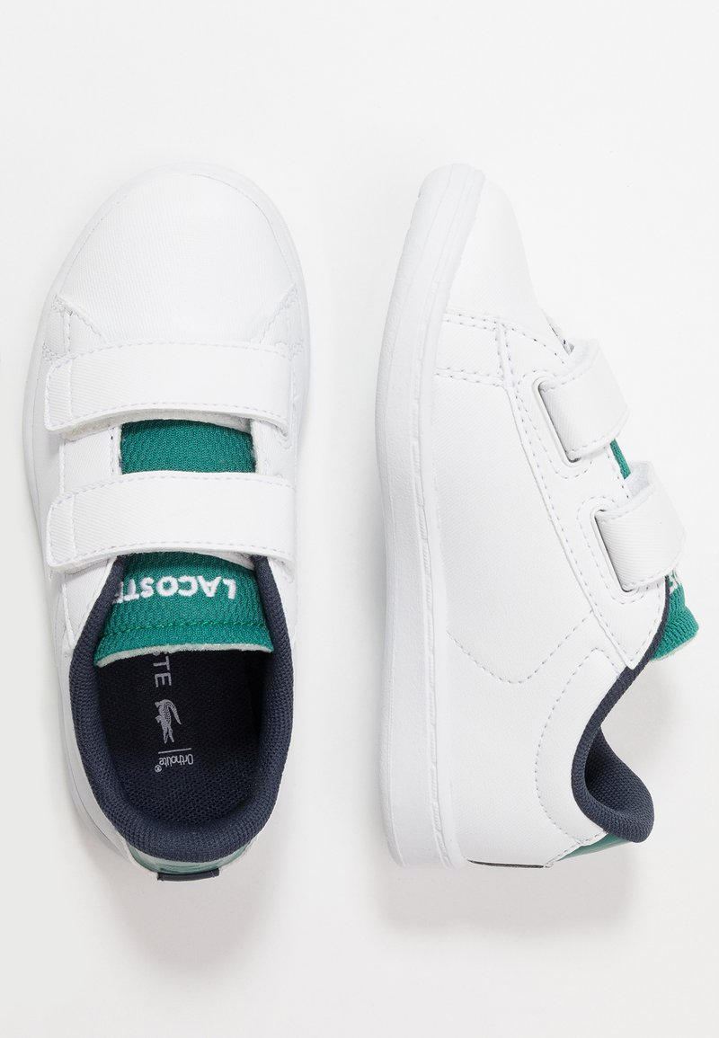 Lacoste - CARNABY EVO - Baby shoes - white/green