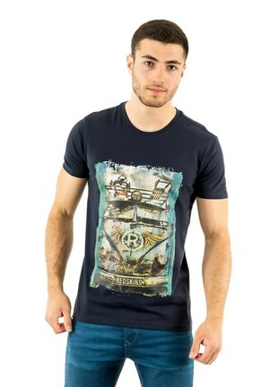 RUSEAS - Print T-shirt - bleu