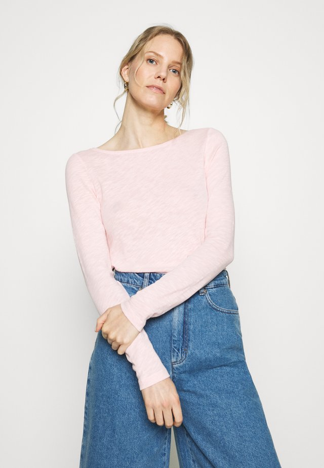 LONG SLEEVE BOAT NECK - Long sleeved top - rose cream