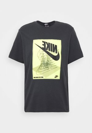 FESTIVAL TEE - T-shirt con stampa - smoke grey/ volt