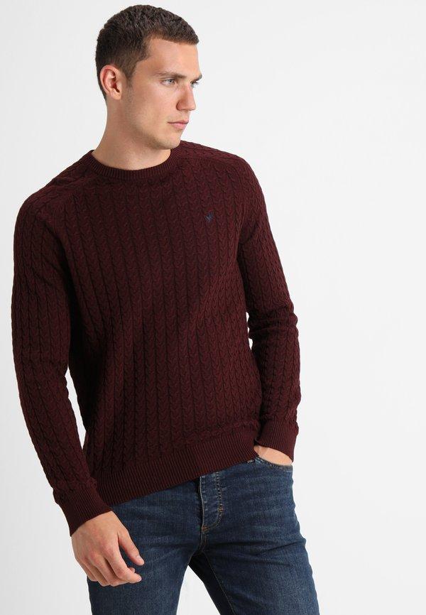 Pier One Sweter - mottled bordeaux/bordowy melanż Odzież Męska SWLY