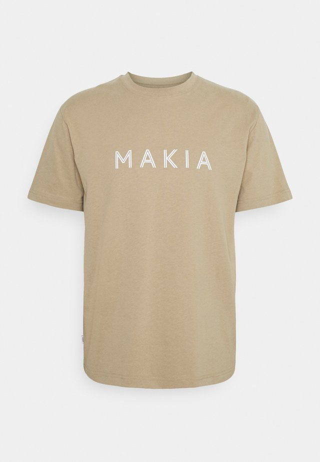 OKSA - T-shirts med print - beige