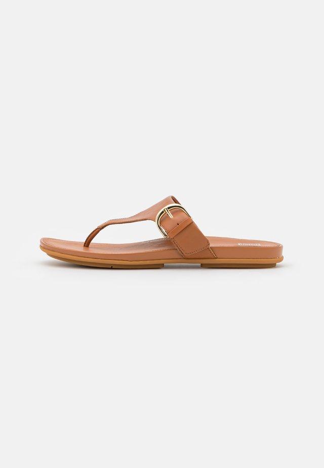 GRACCIE TOE POST  - Flip Flops - light tan