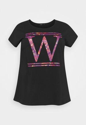 ECONNIE LOOSE TEE - T-shirt imprimé - black