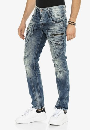 BIKER-STIL  - Slim fit jeans - blue