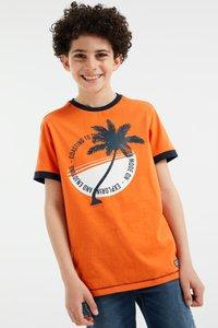 WE Fashion - Print T-shirt - orange - 1