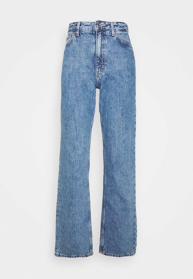 Monki - TAIKI STRAIGHT LEG - Straight leg -farkut - blue medium dusty