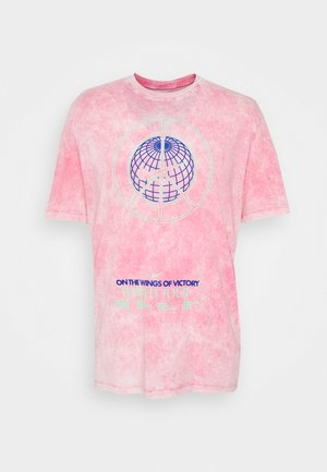 TEE MUSIC TOUR WASH - Print T-shirt - pinksicle