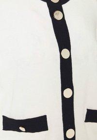 Liu Jo Jeans - MAGLIA APERTA INTARSIO - Cardigan - off-white - 5