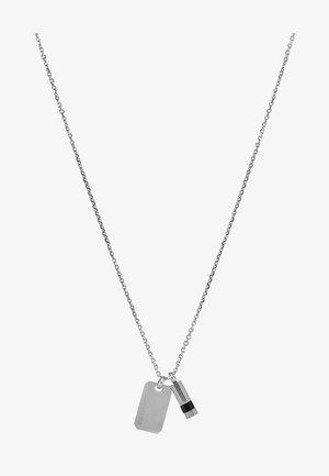 DOUBLE PENDANT - Náhrdelník - silver-coloured