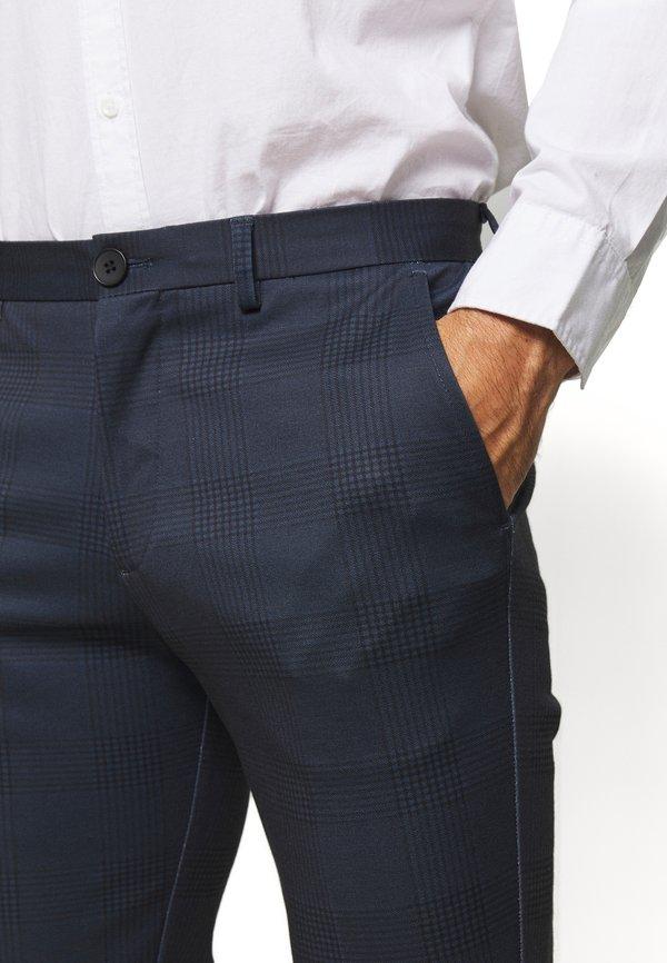 Selected Homme SLHSLIM-AIDEN - Spodnie materiałowe - navy blue/granatowy Odzież Męska IHGB