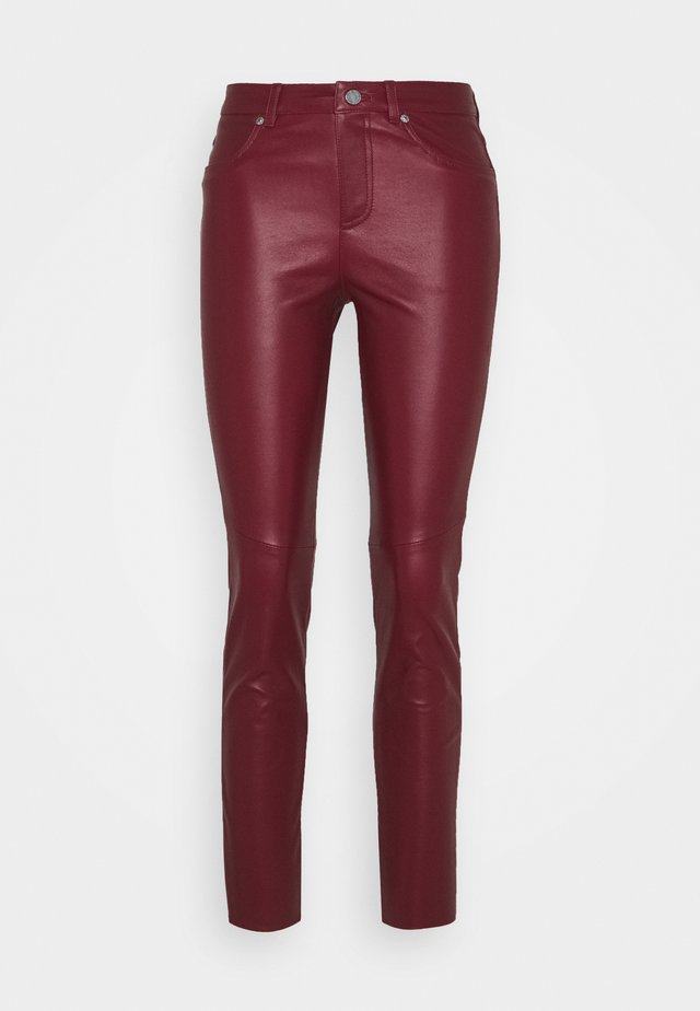 Leather trousers - amarena