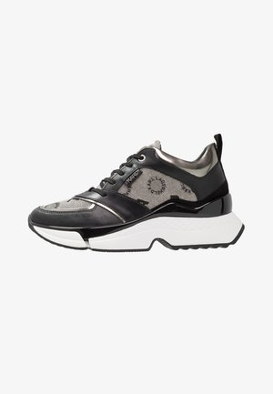 AVENTUR MID LACE JACQUARD - Trainers - light grey weave/black