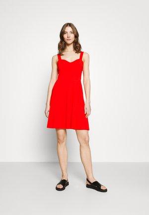 PCANG STRAP DRESS - Jersey dress - high risk red
