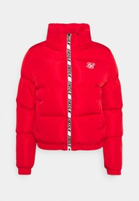 SIKSILK - PRINTED TAPE PADDED CROP JACKET - Winter jacket - red - 0