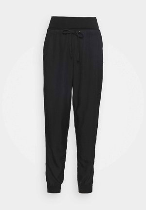 LONG PANTS - Trousers - pitch black