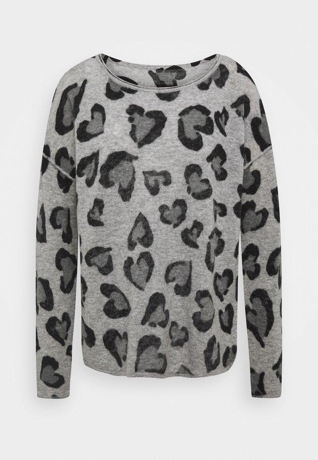 HERZ - Pullover - grau