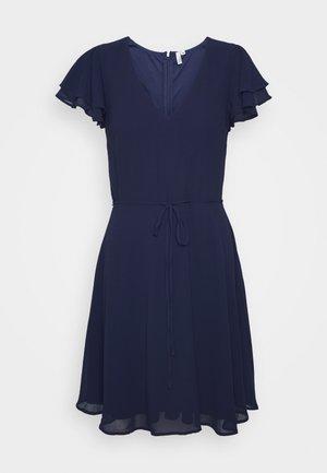 DOUBLE FLOUNCE SLEEVE DRESS - Cocktail dress / Party dress - navy