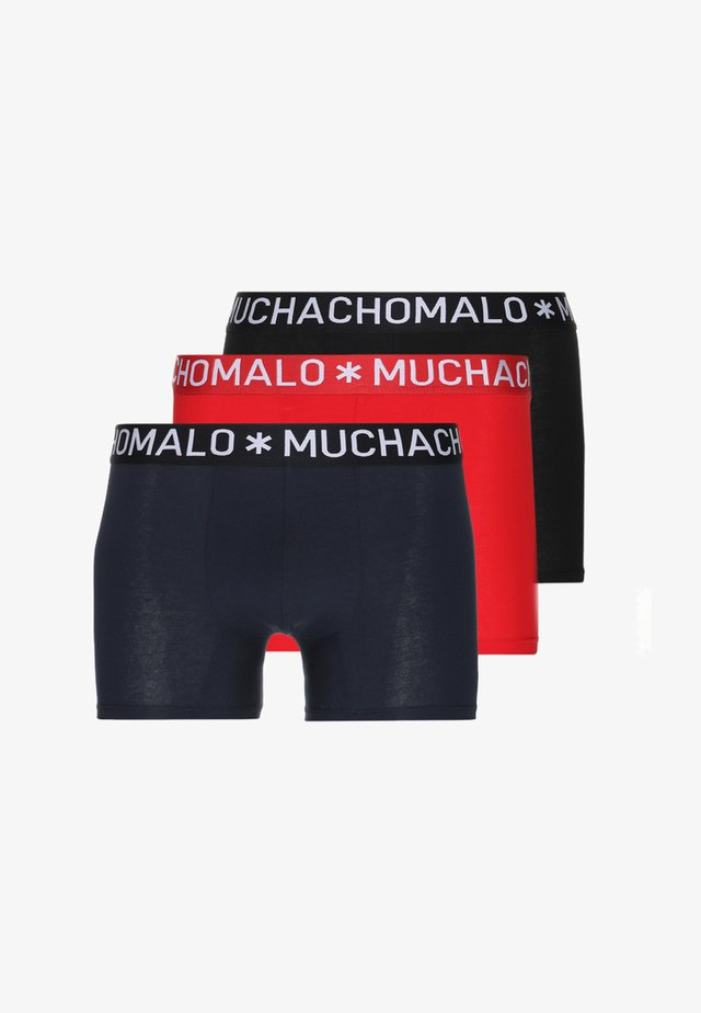SOLID 3 PACK - Pants - black/dark blue/red