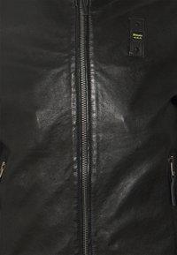Blauer - Kožená bunda - black - 2