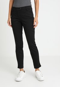 Marc O'Polo - PANTS FIT LAXA CASUAL - Trousers - black - 0