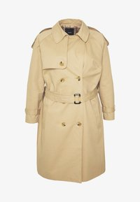 LONGLINE DOUBLE BREASTED - Trenchcoats - camel