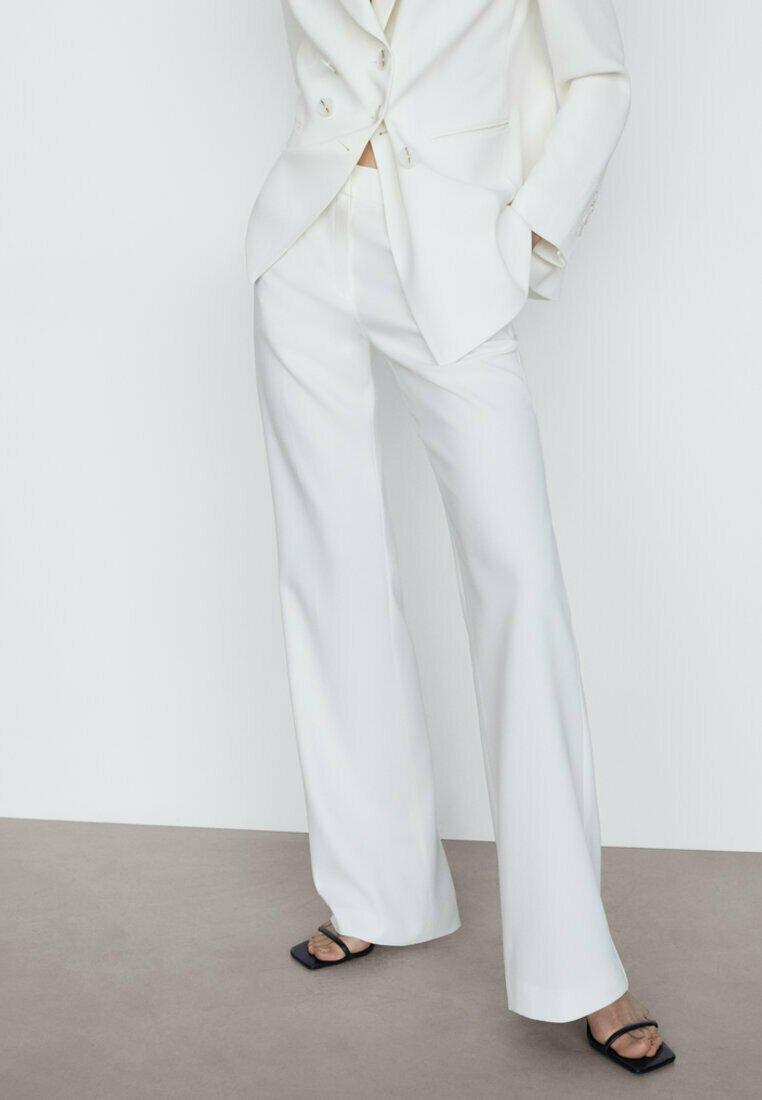 Massimo Dutti - MIT SCHLAG  - Trousers - white