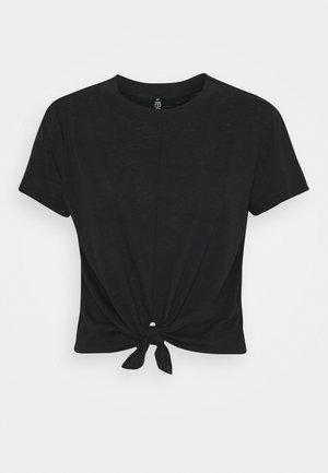LIFESTYLE TIE UP - T-shirt basic - black