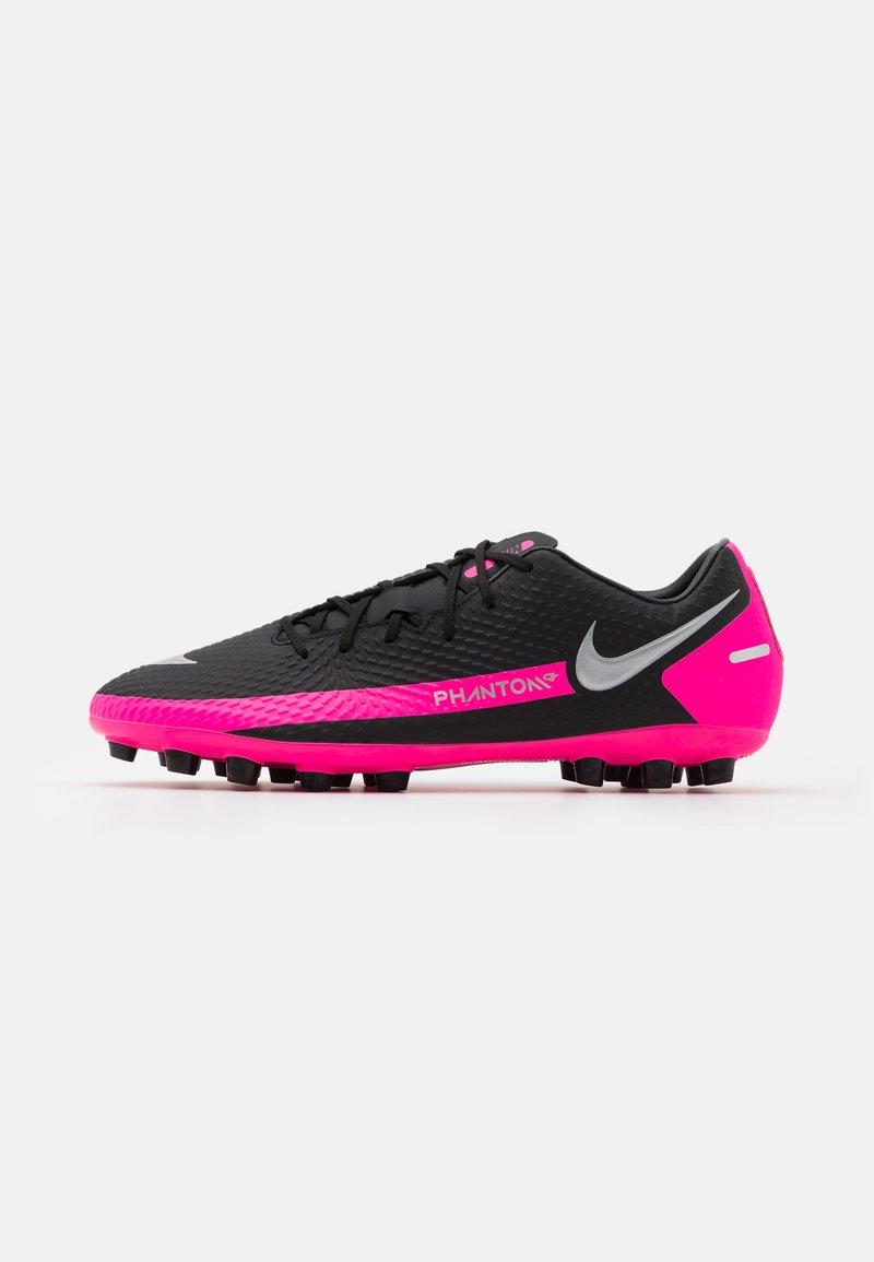 Nike Performance - PHANTOM GT ACADEMY AG - Moulded stud football boots - black/metallic silver/pink blast