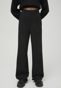 PULL&BEAR - Trousers - mottled black - 0
